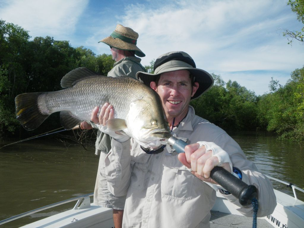Justin with a South Alligator Barra