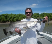 Brent with his 79cm Barra